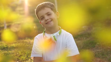 Portrait-Smiling-Of-A-Boy-Outdoors