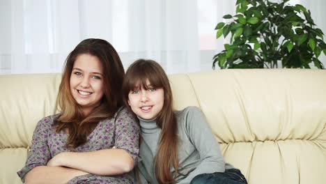 Sisters-Sitting-On-The-Couch