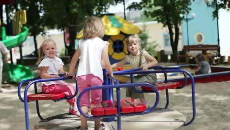Three-Happy-Girls-On-The-Playground