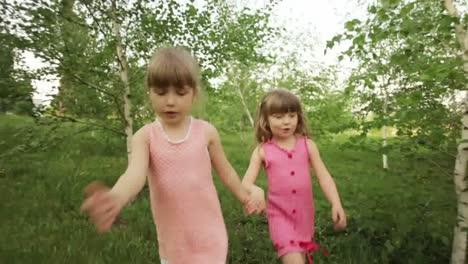 Girls-Strolling-In-The-Garden