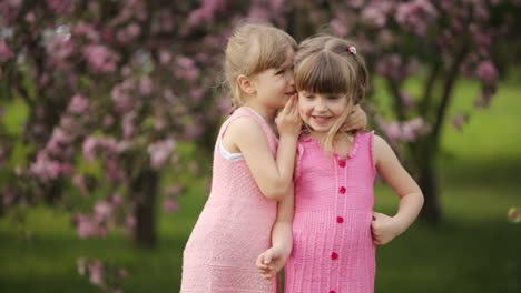 Little-Girls-Whispering-And-Smiling