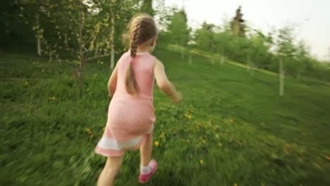 Sweet-Girl-Running-Away-In-The-Garden