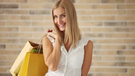Linda-Mujer-Joven-Posando-Con-Bolsas-De-Compras-Y-Sonriendo-A-La-Cámara-Cámara-Panorámica