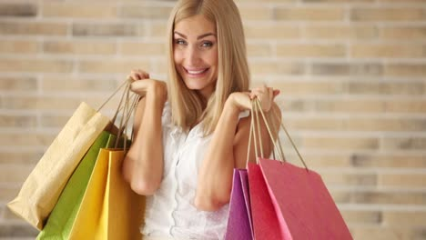 Happy-Young-Woman-Holding-Shopping-Bags-Expressing-Excitement-Looking-At-Camera