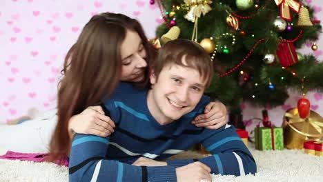 Love-Couple-Near-Christmas-Tree