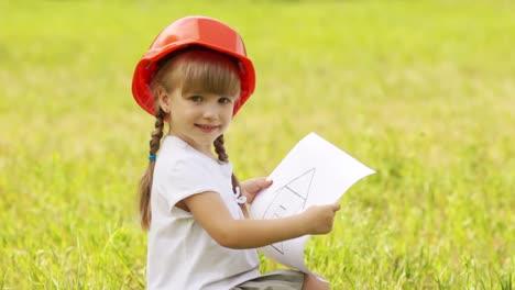 Closeup-Portrait-A-Little-Builder-In-The-Meadow