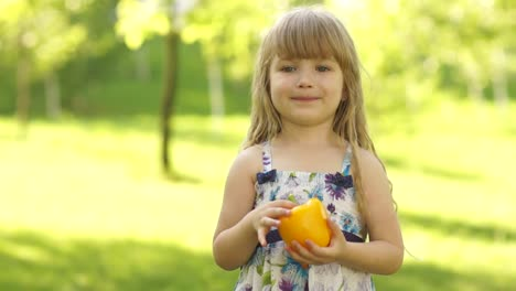 Girl-With-A-Vegetable-In-The-Hands-Of-Jumping-Thumbs-Up-Ok