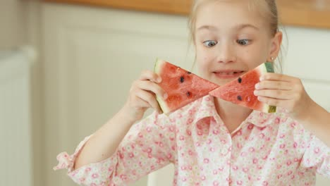 Bow-Of-Watermelon-Girl-Playing-With-Watermelon
