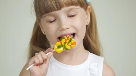 Cute-Girl-Chews-Candy