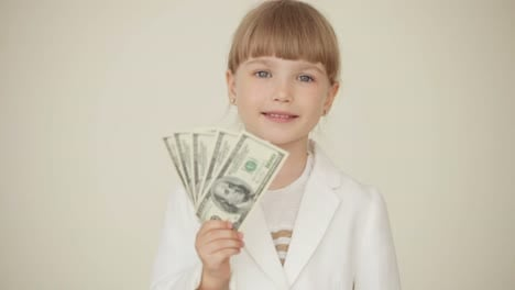 Little-Businesswoman-With-Money
