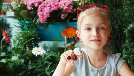 Cherry-Girl-Portrait-Little-Fashionista-Hamming-For-The-Camera