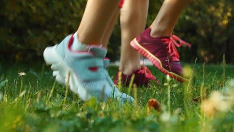 Foot-Of-Athletes-Closeup