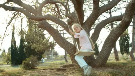 Girl-Is-Having-Fun-On-A-Swing-Under-The-Tree