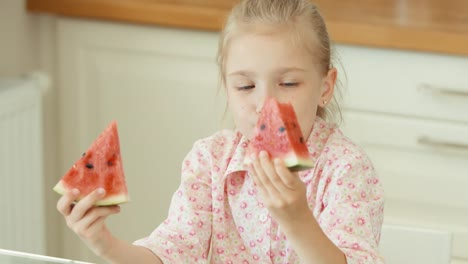 Girl-Eating-Watermelon-Child-Treating-Viewer-Watermelon