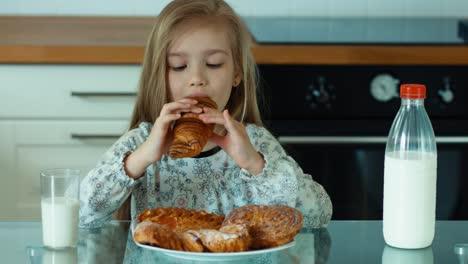 Happy-Girl-Eating-Sweet-Rolls
