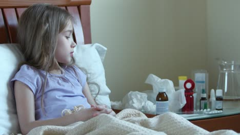 Atention-Sick-Child-Girl-7-Years-Old-Takes-Pills-Without-Asking-Adults