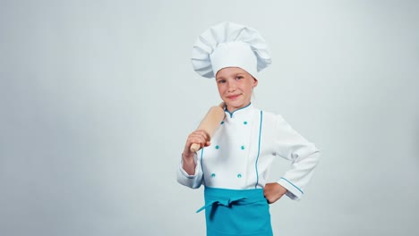 Chef-Cook-Child-7-8-Years-Holds-Rollingpin-And-Isolated-On-White-Background