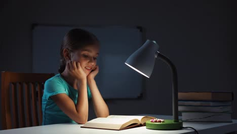 Child-Reading-A-Book-In-The-Night