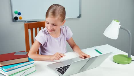Child-Shopping-Online-Portrait-Girl-7-8-Years-Using-Credit-Card-And-Laptop