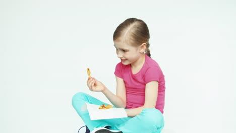 Cute-Girl-Child-7-8-Years-Eating-Potatoes