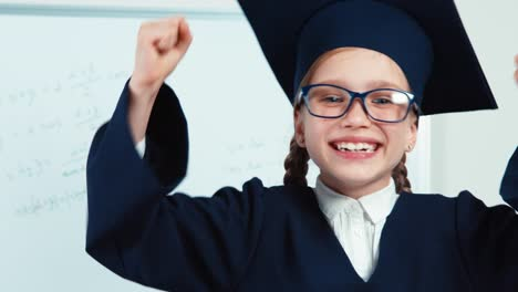 Graduate-Has-Power-Portrait-Little-Student-Girl-7-8-Years-In-The-Mantle