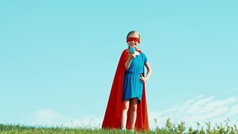 Powerful-Superhero-Girl-Child-Protects-The-World-Against-The-Blue-Sky-Ok
