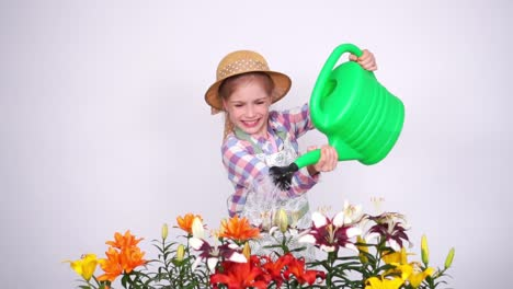 Slow-Motion-Portrait-Portrait-Flowergirl-Using-Watering-Can