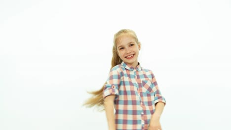 Super-Girl-Happy-Girl-Dabbles-And-Smiling-On-The-White-Background