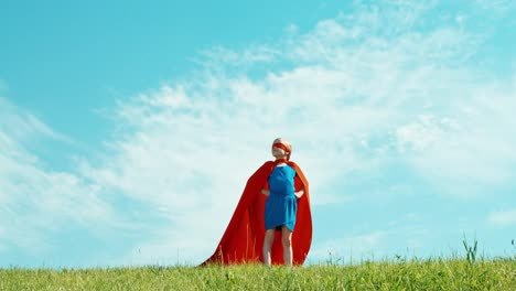 Superhero-Girl-Child-Protects-The-World-Against-The-Blue-Sky