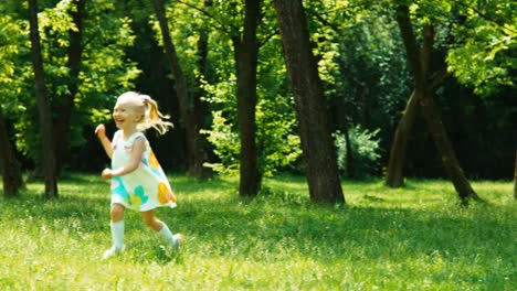 Baby-Girl-3-Years-Old-Running-To-Mother-In-The-Park