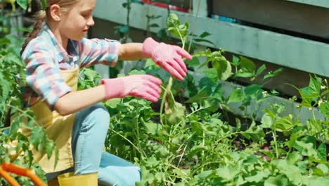 Child-9-Years-Old-Is-Working-In-The-Garden
