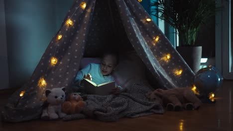 Child-At-Night-Reading-Book