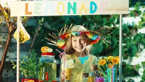 Child-Offering-Lemonade