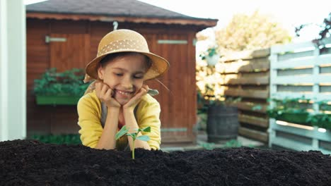 Child-Planted-Little-Plant-To-Soil