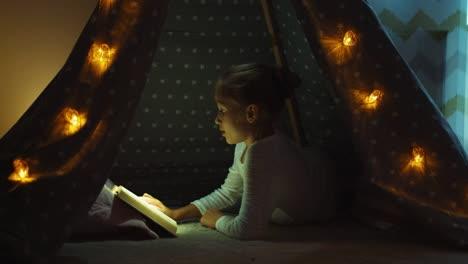 Libro-De-Lectura-Infantil-En-La-Tienda-India