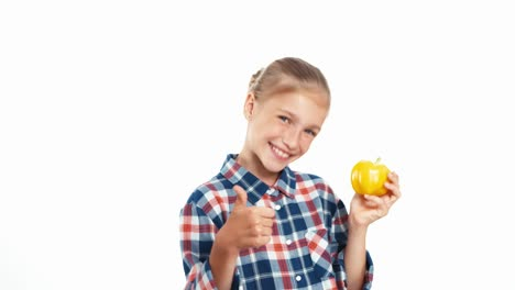Fresh-Vegetables-For-You-Girl-Holds-Yellow-Pepper-In-Her-Hands