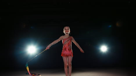Girl-8-Years-Old-Dancing-With-Gymnast-Ribbon
