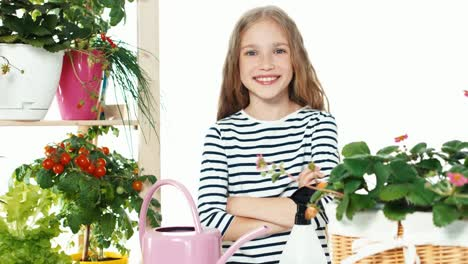 Girl-9-Years-Old-Sprinkling-Vegetables-On-White-Background-Zooming