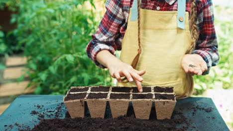 Girl-Child-8-Age-Planting-Seeds-Of-Vegetables-To-Biodegradable-Pots