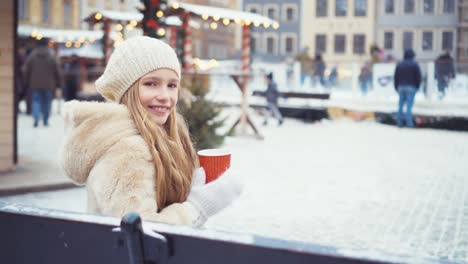 Girl-Looking-Of-Winter-Skating-Rink-And-Sitting-On-Bench-Child-8-Years-Old