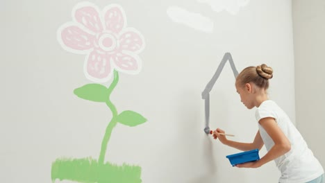 Girl-Painting-House-On-The-Wall