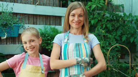 Mother-And-Daughter-In-The-Kitchen-Garden