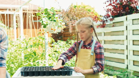 Mother-And-Daughter-Planning-Planting-Seeds-To-Soil-In-Seedbeds