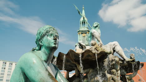 Statue-of-Woman-On-a-Fountain-in-Berlin