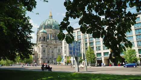Berlin-Cathedral-On-A-Clear-Sunny-Day