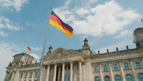 German-Flag-by-the-Reichstag-In-Berlin