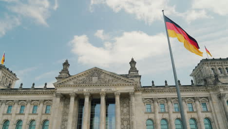 Bundestag-in-Berlin-With-German-Flags
