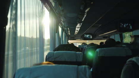 View-From-Inside-The-Passenger-Bus-With-Tourists