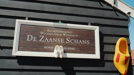 Traditional-Dutch-Wooden-Shoe-Workshop-Sign