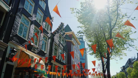 Amsterdam-Old-Houses-And-Orange-Bunting